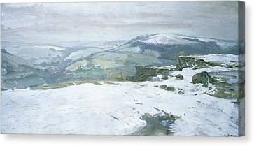 Moorland Canvas Print by Charles Hardaker