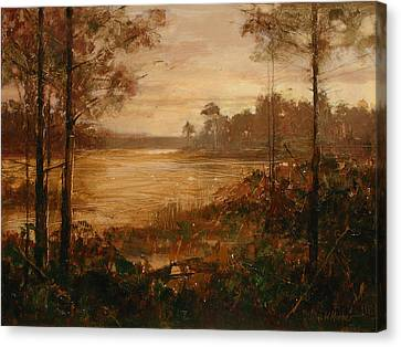 Moorlands At Dusk Canvas Print by Bill Mather