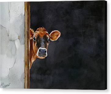 Moo's There? Canvas Print by Art Scholz