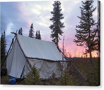 Moose Camp Canvas Print