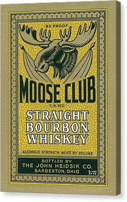 Moose Club Bourbon Label Canvas Print by Tom Mc Nemar