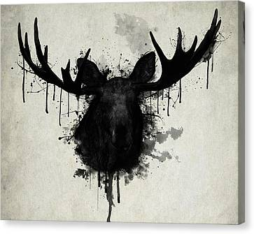 Bull Moose Canvas Print - Moose by Nicklas Gustafsson