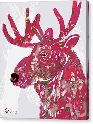 Moose - Pop Art Poster Canvas Print by Kim Wang
