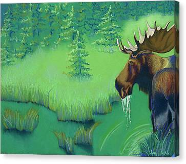 Moose Canvas Print by Tracy L Teeter
