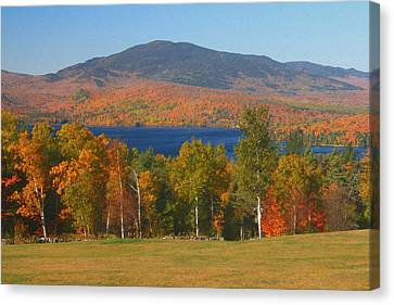 Moosehead Lake In Autumn Canvas Print by John Burk
