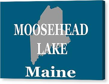 Canvas Print featuring the photograph Moosehead Lake Maine State Pride  by Keith Webber Jr