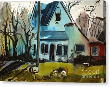 Canvas Print featuring the painting Moppity's House Matted Framed Glassed by Charlie Spear