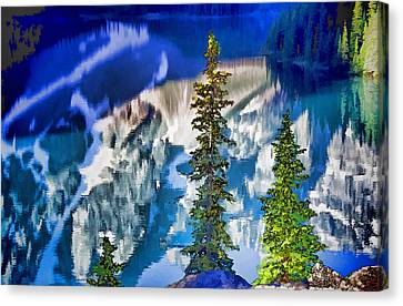 Moraine Reflections Canvas Print by Dennis Cox WorldViews