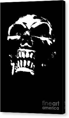 Morbid Skull Canvas Print by Roseanne Jones
