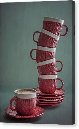 More Cappuchino?  Canvas Print by Maggie Terlecki