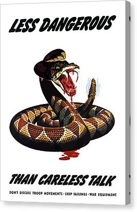 More Dangerous Than A Rattlesnake - Ww2 Canvas Print by War Is Hell Store