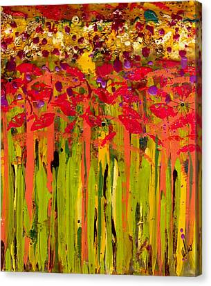 More Flowers In The Field Canvas Print by Angela L Walker