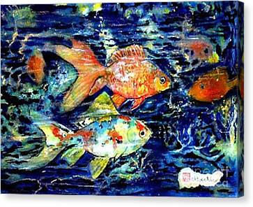 More Gold Fish Canvas Print by Norma Boeckler