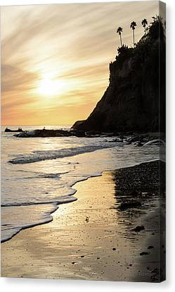 Canvas Print featuring the photograph More Mesa Sunset West by Tim Newton