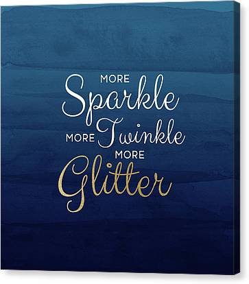 Sparkle Canvas Print - More Sparkle Blue- Art By Linda Woods by Linda Woods