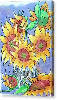 More Sunflowers Canvas Print by Loretta Nash