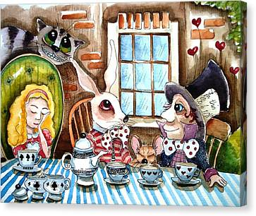 More Tea Canvas Print by Lucia Stewart