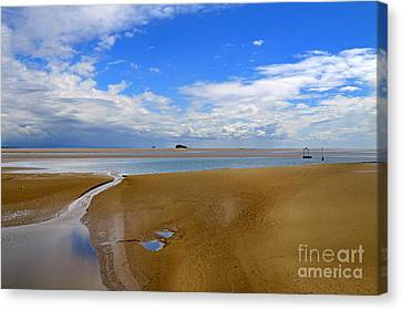 Morecambe Bay Cumbria Canvas Print by Louise Heusinkveld