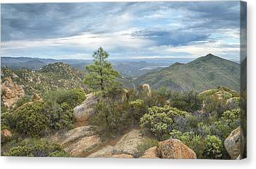 Canvas Print featuring the photograph Morena Valley And Los Pinos Mountain by Alexander Kunz