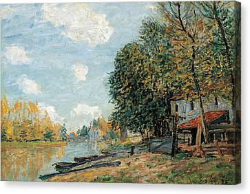 Moret The Banks Of The River Loing Canvas Print