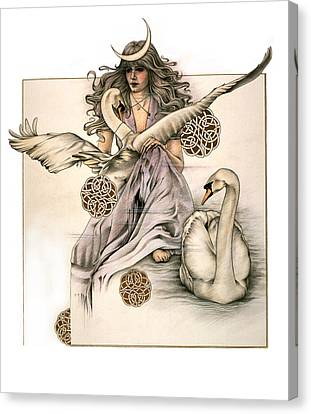Morgaine Canvas Print by Johanna Pieterman