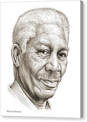Daisy Canvas Print - Morgan Freeman by Greg Joens
