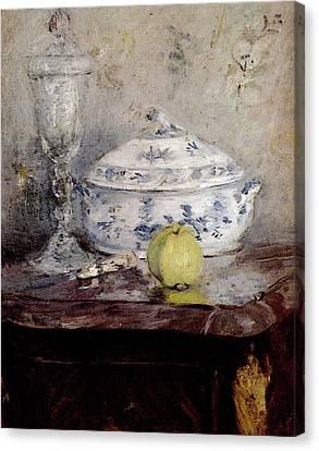 Morisot Berthe Tureen And Apple Canvas Print by Berthe Morisot