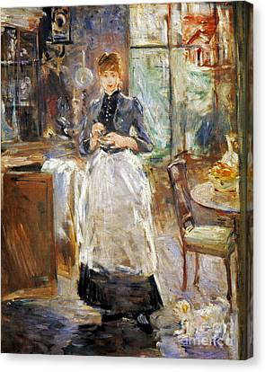 Morisot: Dining Room, 1886 Canvas Print by Granger
