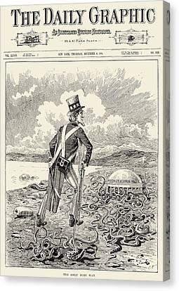 Mormons: Polygamy, 1883 Canvas Print by Granger
