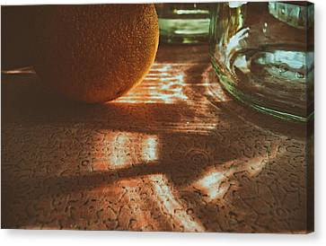 Canvas Print featuring the photograph Morning Detail by Steven Huszar