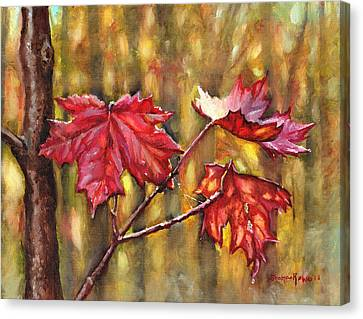 Morning After Autumn Rain Canvas Print