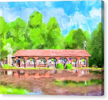 Morning After The Rain - Oglethorpe Barbecue Canvas Print by Mark Tisdale