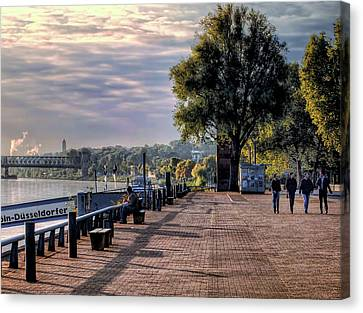 Canvas Print featuring the photograph Morning Along The Rhine by Jim Hill