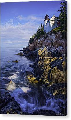 Morning At Bass Harbor Lighthouse Canvas Print