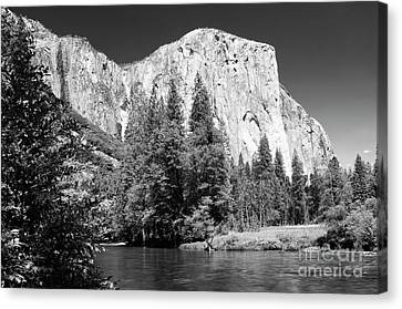 Canvas Print featuring the photograph Morning At El Capitan by Sandra Bronstein