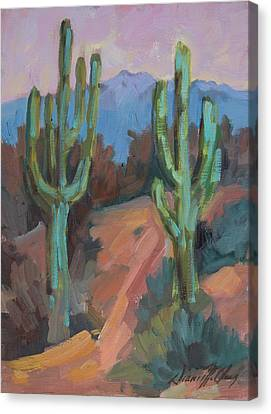Canvas Print featuring the painting Morning At Fort Apache by Diane McClary