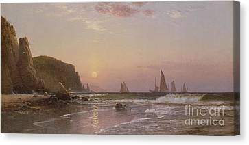 Morning At Grand Manan Canvas Print by Alfred Thompson Bricher