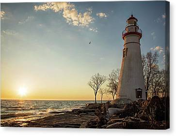Morning At Marblehead Canvas Print