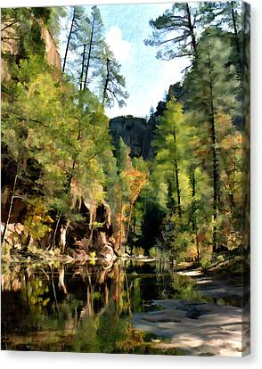 Morning At Oak Creek Arizona Canvas Print by Kurt Van Wagner
