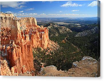 Morning At Paria Point In Bryce Canyon Canvas Print