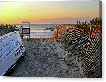 Morning At The Beach Canvas Print
