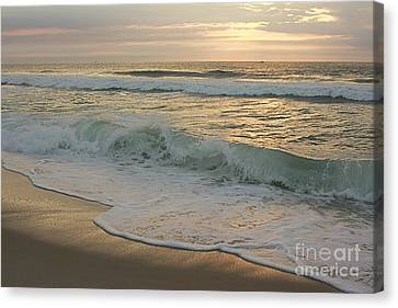 Canvas Print featuring the photograph Morning  At The Beach by Nicola Fiscarelli
