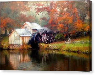 Morning At The Mill Canvas Print by Darren Fisher