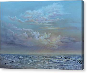 Morning At The Ocean Canvas Print by Luczay
