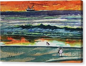 Morning At The Shoreline Canvas Print