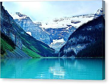 Canvas Print featuring the photograph Morning Blue by Al Fritz