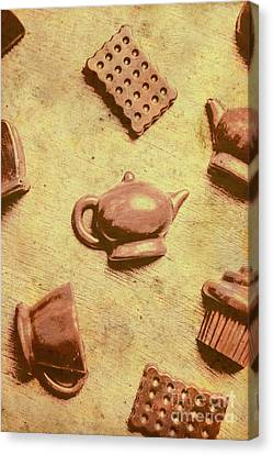 Morning Breakfast Chocolate Tea Set  Canvas Print by Jorgo Photography - Wall Art Gallery