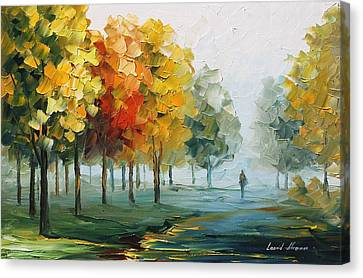 Morning Breeze Canvas Print by Leonid Afremov