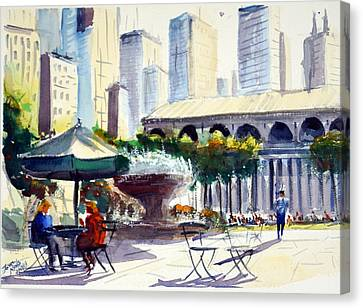 Bryant Park Canvas Prints Fine Art America