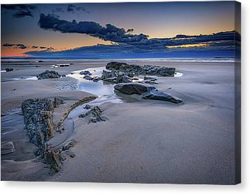 Canvas Print featuring the photograph Morning Calm On Wells Beach by Rick Berk